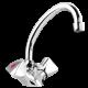 Un mélangeur lavabo avec un bec tube mobile pour la salle de bain