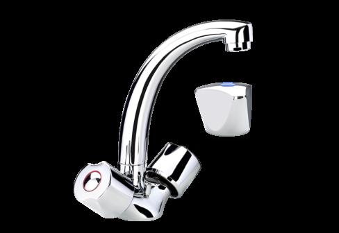 Un mélangeur lavabo avec un bec coulé mobile pour la salle de bain