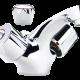 Un mélangeur lavabo avec un bec fixe pour la salle de bain