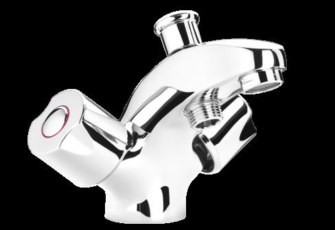 Un mélangeur montrou bain-douche chromé de salle de bain