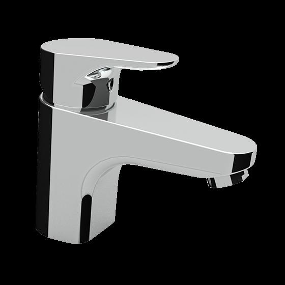 Un mitigeur monotrou de lavabo chromé