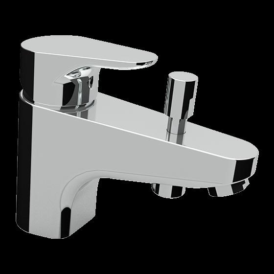 Un mitigeur monotrou bain-douche chromé