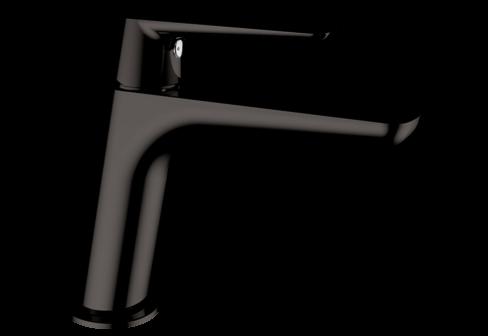 Un mitigeur monotrou de lavabo metal gun