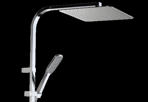 Une colonne de douche thermostatique chromé pour la salle de bain