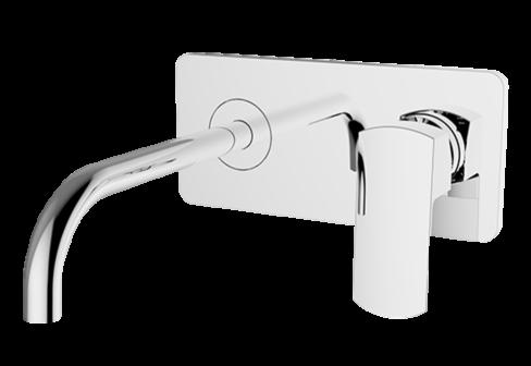 Un mitigeur lavabo encastré avec plaque
