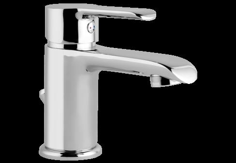 Un mitigeur lavabo chromé