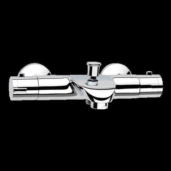 Un mitigeur thermostatique bain-douche chromé pour la salle de bain