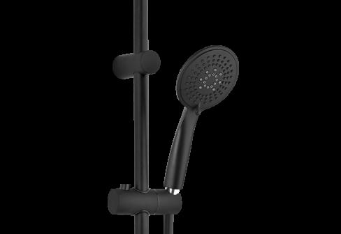 Combiné de rampe noir mat avec douchette ABS