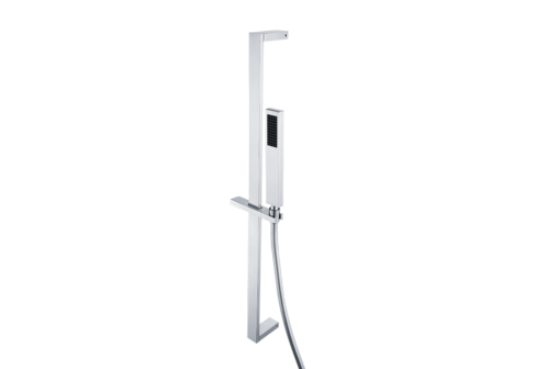Combiné de rampe chromé avec douchette PVC