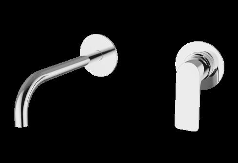 Un mitigeur lavabo encastré chromé