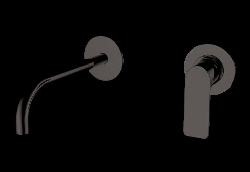 Un mitigeur lavabo encastré metal gun