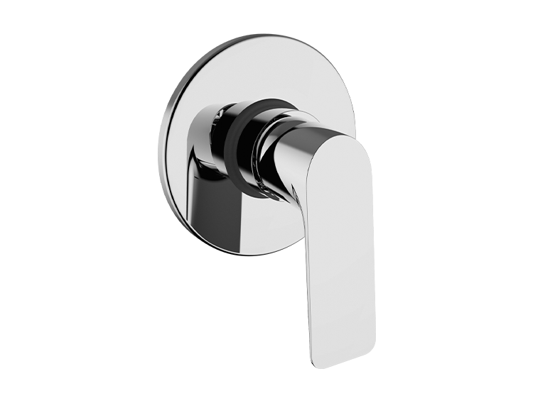 Un mitigeur bain-douche encastré
