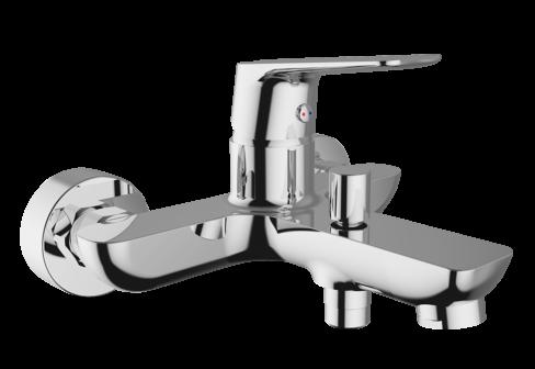 Un mitigeur mural bain-douche pour la salle de bain