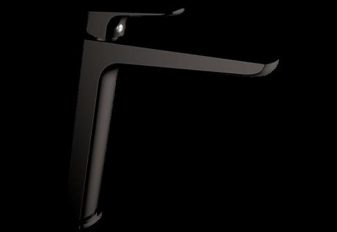 Un mitigeur monotrou de lavabo haut metal gun