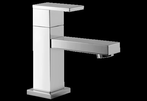 Un robinet lave-mains chromé
