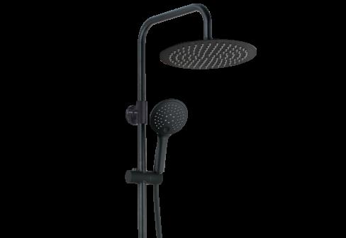 Une colonne de douche thermostatique noir mat
