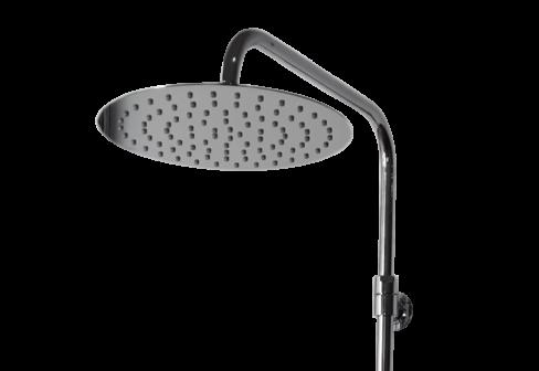 Une colonne de douche thermostatique chromé